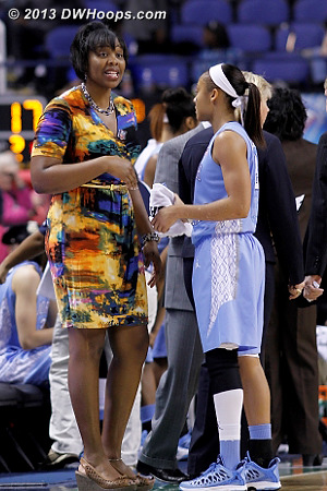 Whatever pep talk TSO had for Coleman, it worked  - UNC Players: Assistant Coach Trisha Stafford-Odom, #2 Latifah Coleman