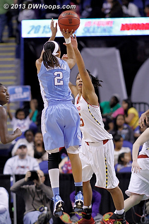 Coleman. 64-61 Heels.  - UNC Players: #2 Latifah Coleman