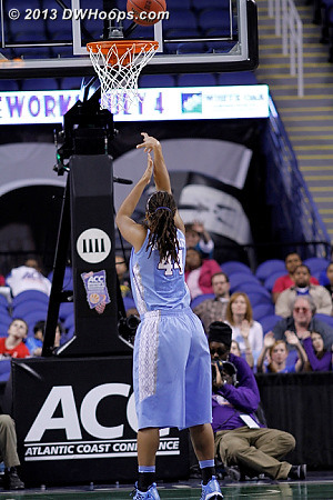 Swish, swish, 65-61 UNC with 50 seconds left  - UNC Players: #44 Tierra Ruffin-Pratt