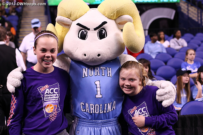 Ballkids with Ramses  - UNC Players: Mascot Ramses