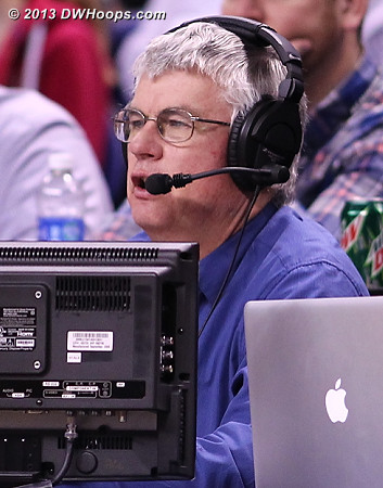 Steve Barnes getting it done for the Duke radio broadcast