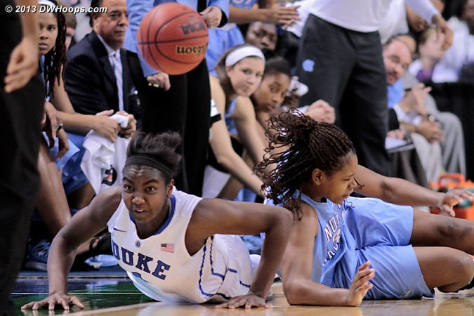 We'll have more public photos Monday...  - Duke Tags: #1 Elizabeth Williams  - UNC Players: #44 Tierra Ruffin-Pratt