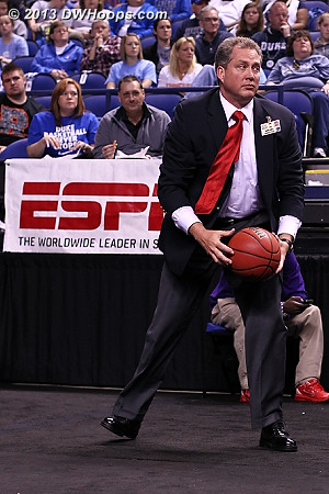 Dow Hines retrieves the ball after an inbounds pass was kicked