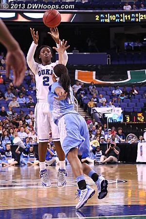 Alexis Jones with a cold-blooded trey. 65-42 Duke.  - Duke Tags: #2 Alexis Jones - UNC Players: #11 Brittany Rountree