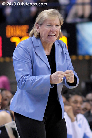 Coach Hatchell tells her players to keep fighting  - UNC Players: Head Coach Sylvia Hatchell