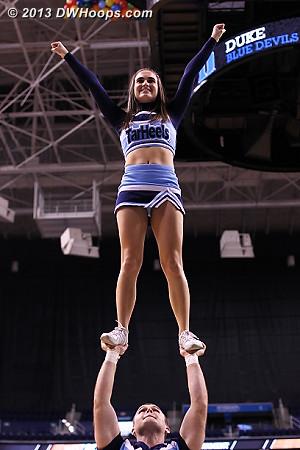 Still plenty of school spirit from Carolina despite the score  - UNC Players:  UNC Cheerleaders
