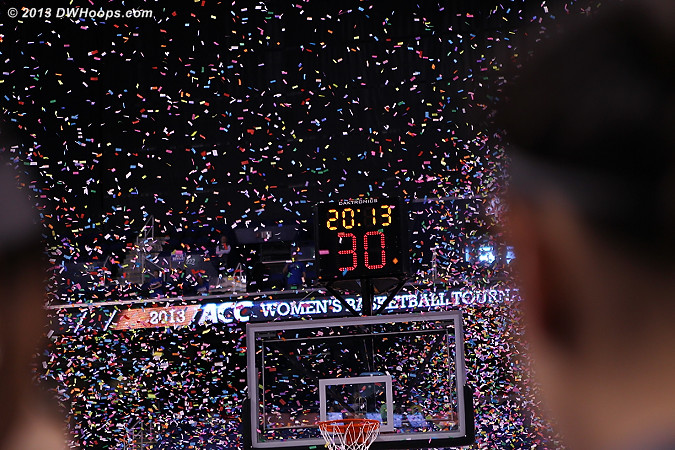 Confetti in full blast