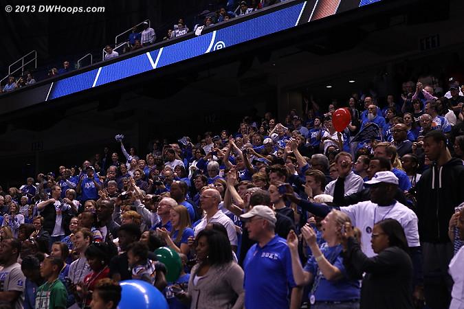 The sea of Duke fans  - Duke Tags: Fans