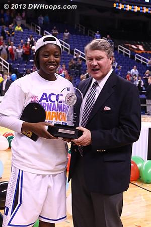 ACC Tournament MVP Alexis Jones