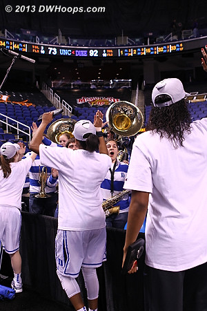 High Fives for the Duke Pep Band from the team  - Duke Tags: Duke Pep Band