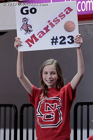 ACCWBBDigest Photo  - NCSU Players:  NCSU Fans