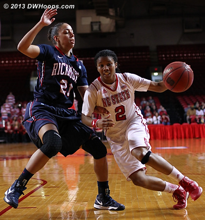Hand of friendship from Kristina King  - NCSU Players: #2 Le'Nique Brown