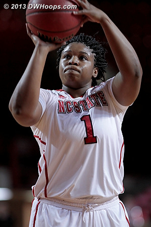 State goes up by 4, 53-49  - NCSU Players: #1 Myisha Goodwin-Coleman