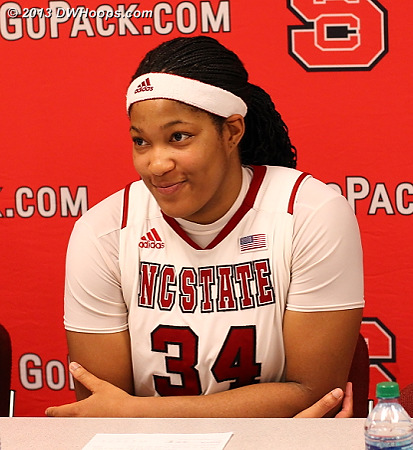ACCWBBDigest Photo  - NCSU Players: #34 Markeisha Gatling