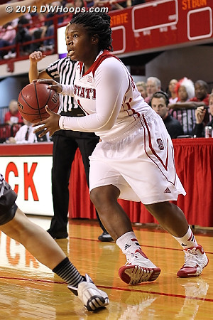 Myisha Goodwin-Coleman said after the game that she was comfortable in her new off-guard role  - NCSU Players: #1 Myisha Goodwin-Coleman