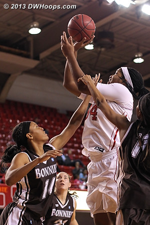 Gatling's return to the floor in the second half helped State's offense, though she only scored two points  - NCSU Players: #34 Markeisha Gatling