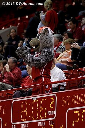 ACCWBBDigest Photo  - NCSU Players: Mascot Mr. Wuf