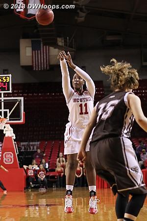 For three  - NCSU Players: #11 Jennifer Mathurin
