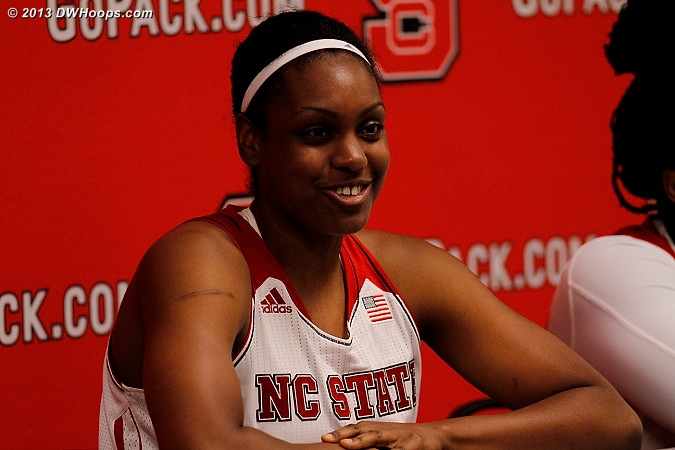 Kody Burke in the media room after an 11 point night, 6-6 from the stripe  - NCSU Players: #44 Kody Burke