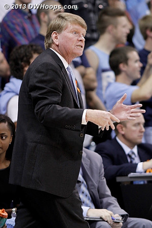 During a Tennessee run  - UNC Players: Assistant Coach Andrew Calder