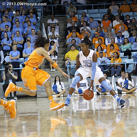 DeShields goes between the legs as Meighan Simmons closes in