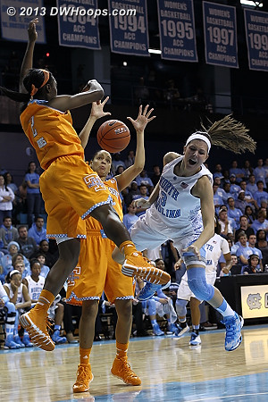 An awkward landing was on the way  - UNC Players: #3 Megan Buckland