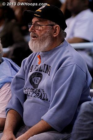 A loyal Carolina WBB fan on Veterans Day  - UNC Players:  UNC Fans