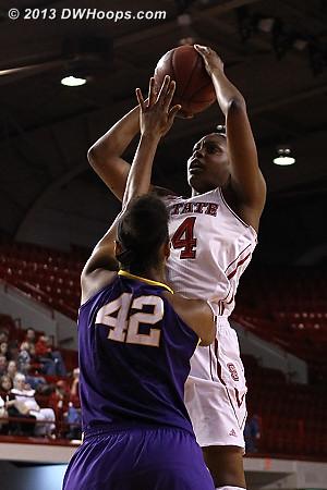 Burke hits early for a 5-2 NCSU lead  - LSU Players: #42 Sheila Boykin