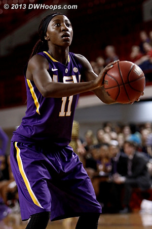 ACCWBBDigest Photo  - LSU Players: #11 Raigyne Moncrief