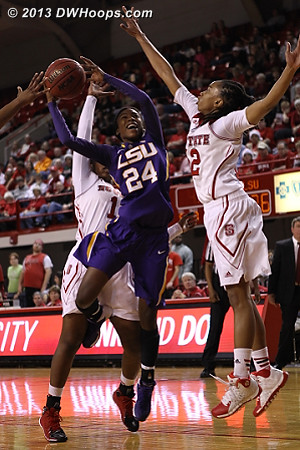 State defense recovers to force an LSU miss  - LSU Players: #24 Dashawn Harden