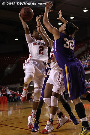 Brown answers an LSU flurry that had cut State's lead to four  - NCSU Players: #2 Le'Nique Brown