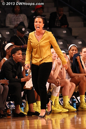 Intensity, live and in person  - GT Players: Head Coach MaChelle Joseph