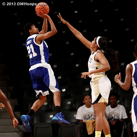 Hampton's Alyssa Bennett works to find an open shot