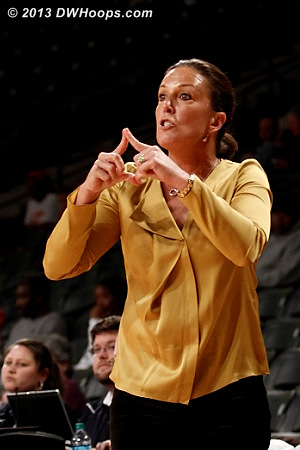 ACCWBBDigest Photo  - GT Players: Head Coach MaChelle Joseph