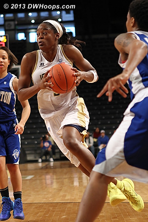Davis, like everyone else is standing still  - GT Players: #3 Kaela Davis