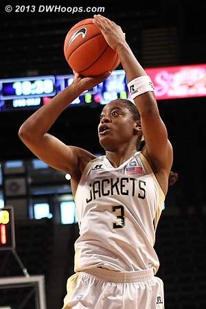 Davis.  58-52 Jackets.  - GT Players: #3 Kaela Davis