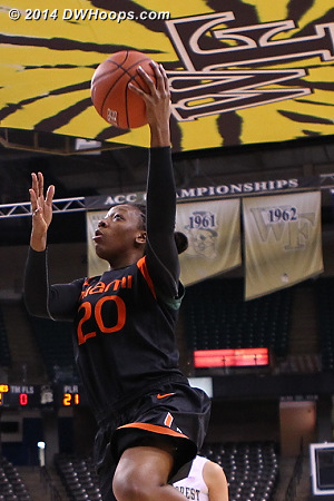 This would be a missed layup  - MIA Players: #20 Keyona Hayes