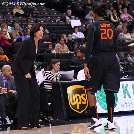 Coach Meier is not a fan of missed layups  - MIA Players: #20 Keyona Hayes