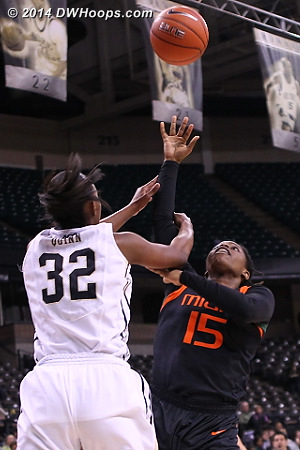Quinn's hand of friendship did not go unnoticed, two shots.  - WAKE Players: #32 Milan Quinn - MIA Tags: #15 Necole Sterling