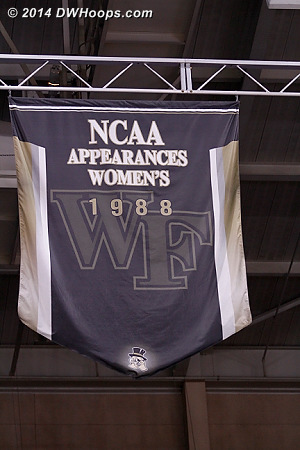 Wake's only WBB banner was earned during Jen Hoover's playing days.