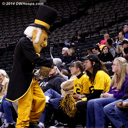 It's popcorn time!  - WAKE Players: Mascot Demon Deacon,  Wake Forest Fans
