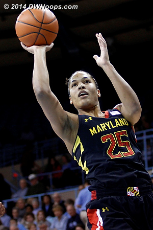 Alyssa Thomas started Maryland's final ACC regular season with a bang, scoring 21 points and grabbing 14 boards as Maryland defeated North Carolina 79-70 in Chapel Hill..