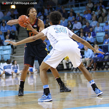 ACCWBBDigest Photo  - UNC Players: #30 Hillary Summers - MD Tags: #13 Alicia DeVaughn