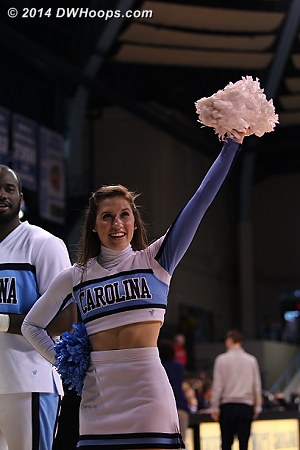 ACCWBBDigest Photo  - UNC Players:  UNC Cheerleaders