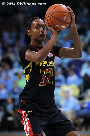 Shatori scored 6 of Maryland's last 8 points, and the Terps lead 35-29  - MD Players: #32 Shatori Walker-Kimbrough