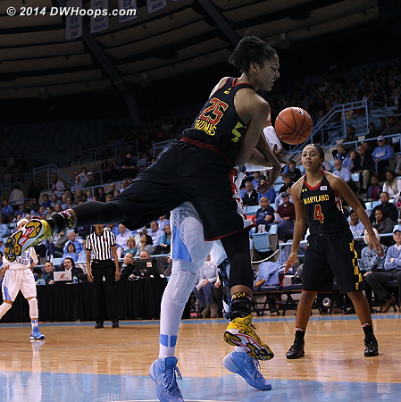 Thomas goes over the top of Mavunga, her first foul  - MD Players: #25 Alyssa Thomas