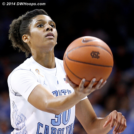 The unusual free throw ritual of Hillary Summers, who was 3-6 from the line  - UNC Players: #30 Hillary Summers