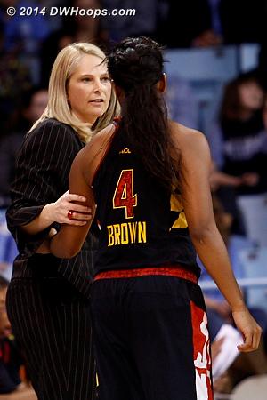 ACCWBBDigest Photo  - MD Players: Head Coach Brenda Frese, #4 Lexie Brown