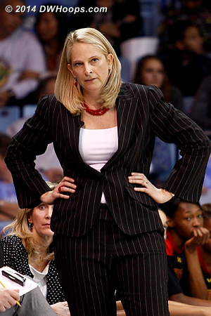 Meanwhile the Maryland fouls continued to mount  - MD Players: Head Coach Brenda Frese