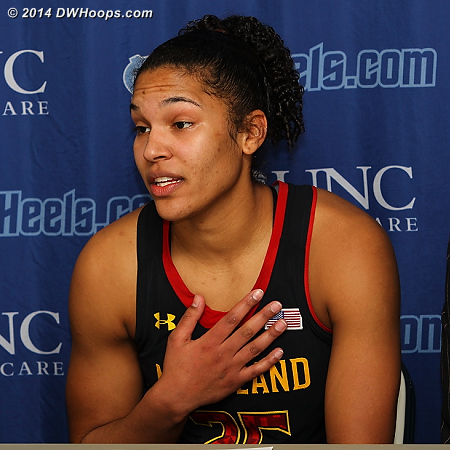 Post game press conference  - MD Players: #25 Alyssa Thomas